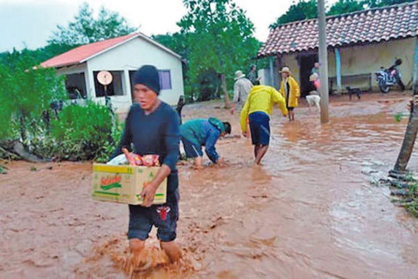 Reportan 50.562 familias damnificadas por las lluvias