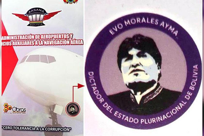 Niegan persecución contra imprenta por el logo de Evo