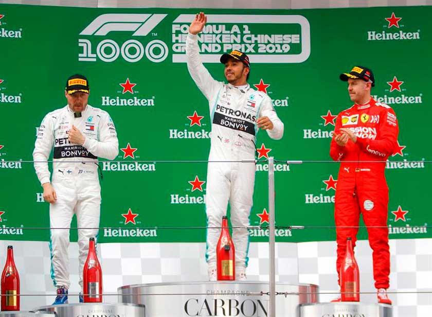Hamilton gana el Gran Premio de China