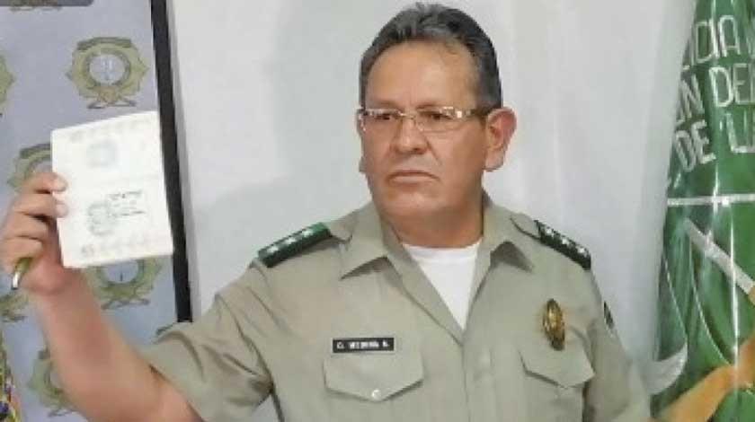Gonzalo Medina es alejado de la Felcc acusado por narcotrafico
