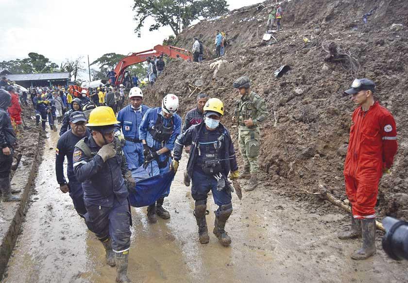 Lluvias: Colombia registra 15 fallecidos por derrumbes