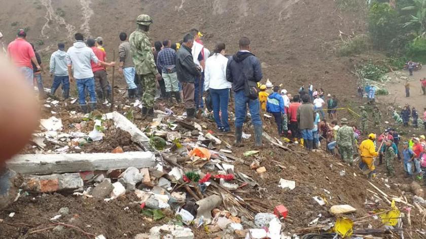 Confirman que ya son 20 los fallecidos por derrumbe en Colombia