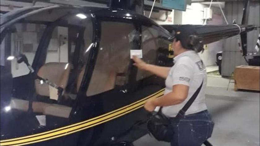 Precintan helicóptero de un accionista por caso Uelicn