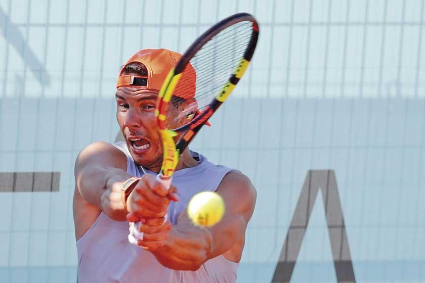 Rafael Nadal rinde examen en Madrid