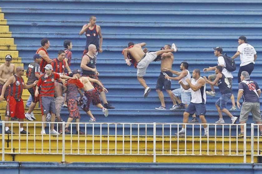 Brasil negará ingreso a hinchas violentos