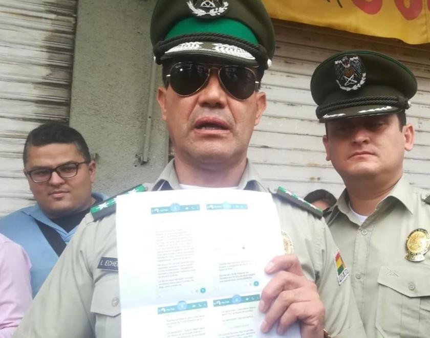 Caso Montenegro: Fiscalía cita al comandante de la Policía cruceña