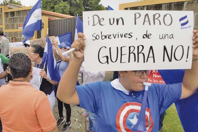 """Oposición convoca a un paro por la """"libertad de todos"""" en Nicaragua"""
