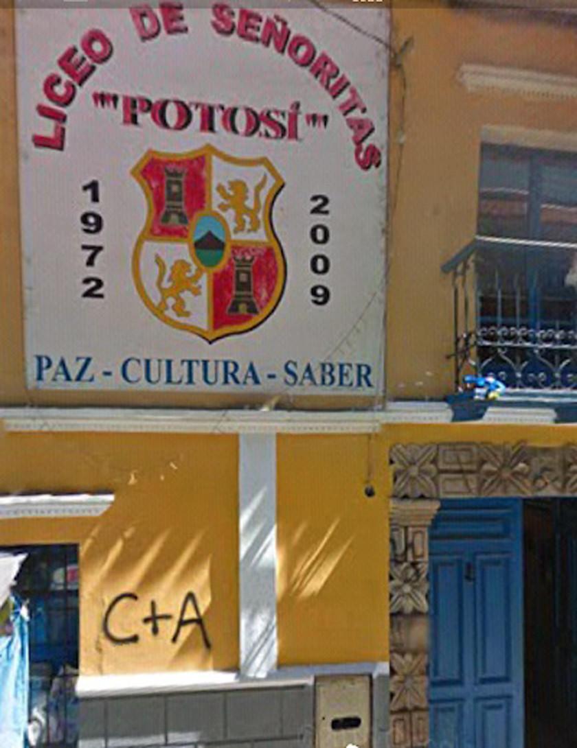Inspeccionan las obras de  refacción del Liceo Potosí