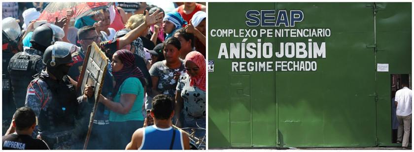 Peleas en cárceles en ciudad de Manaus provocan 57 fallecidos
