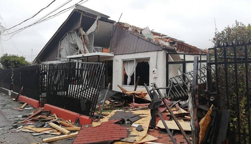 Tromba marina en Chile causa un muerto y casas destrozadas