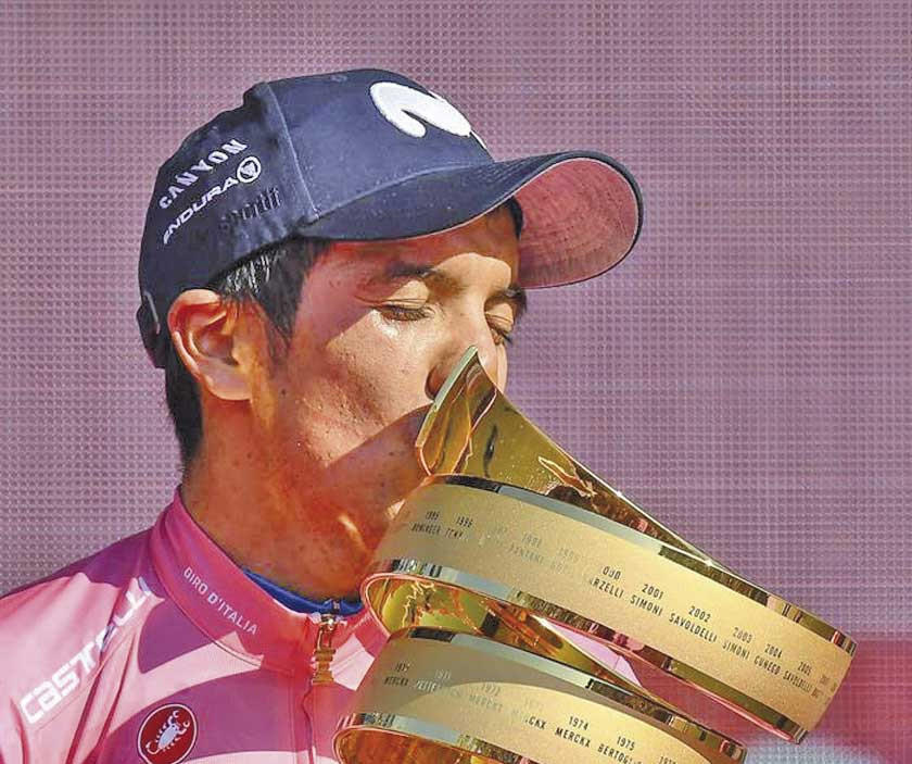 Richard Carapaz conquistó el Giro de Italia