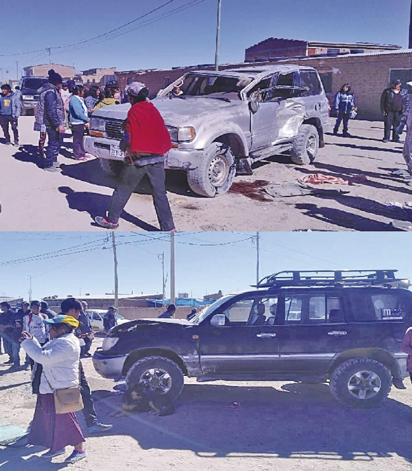 Colisión de vehículos provoca una persona herida en Uyuni