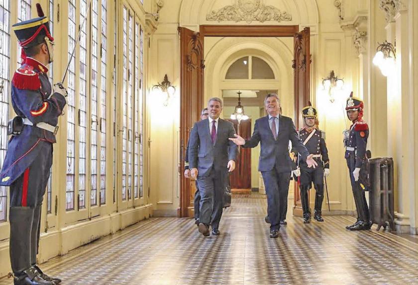 """Macri y Duque piden vuelta de """"democracia"""" a Venezuela"""