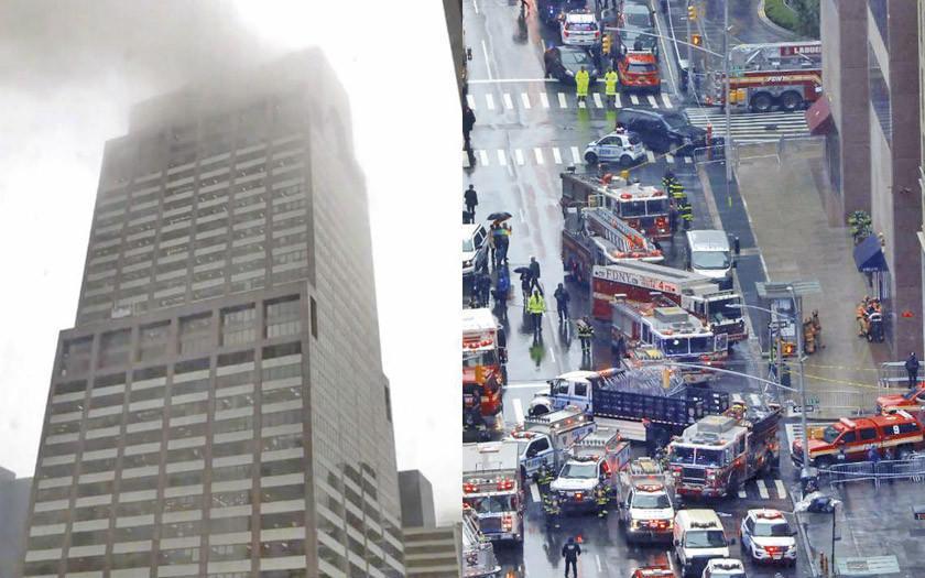 Muere el piloto de helicóptero al chocar a un rascacielos en EE.UU.