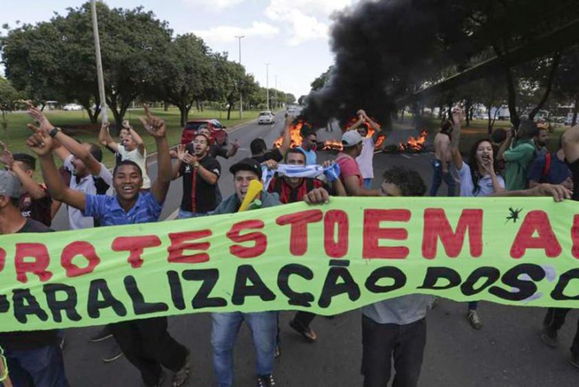 Reportan apoyo parcial a la huelga contra las reformas de Bolsonaro
