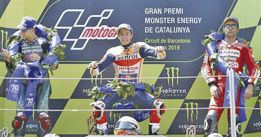 Márquez ganó el Gran Premio de Cataluña de MotoGP