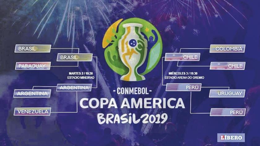 Dos clásicos animan las semifinales de la Copa América