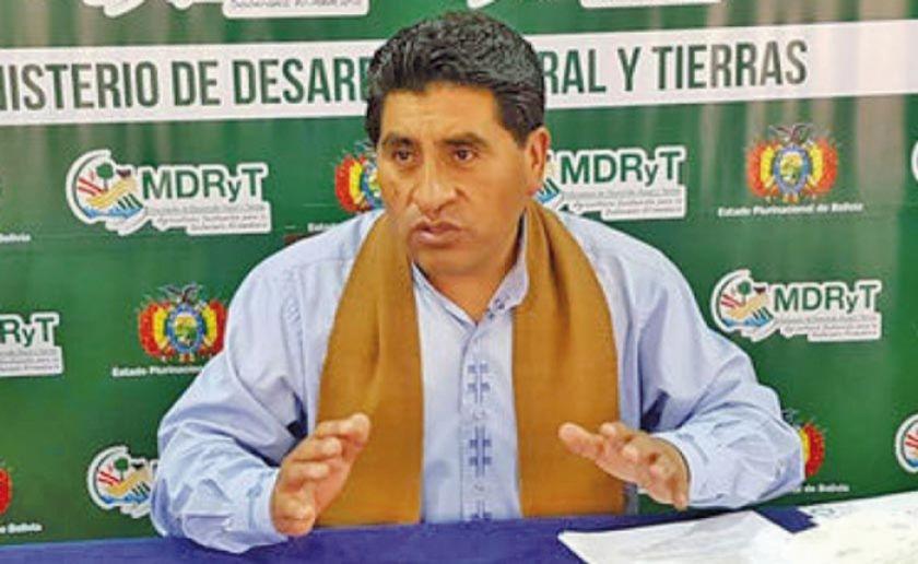 Ministro Cocarico declarará por caso Franclin Gutiérrez