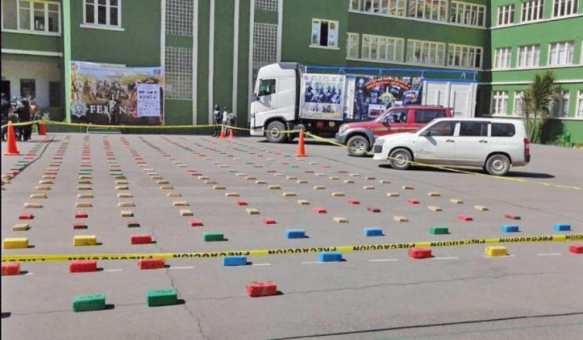 Decomisan más de 300 kilos de cocaína en operativo en El Alto