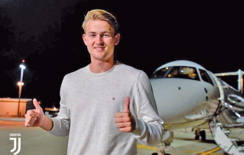 El holandés Matthijs De Ligt llega a Turín para firmar con el Juventus