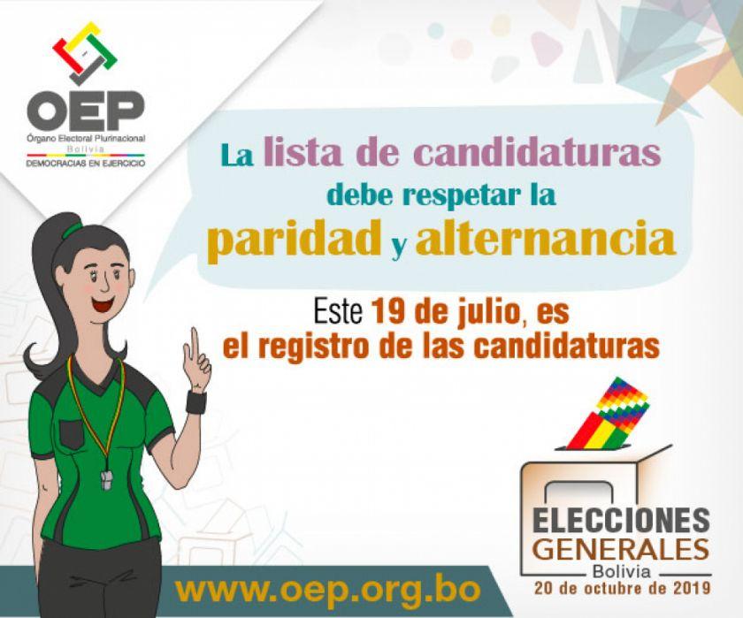 Elecciones Generales: las candidaturas deben presentar 11 requisitos este 19 de julio