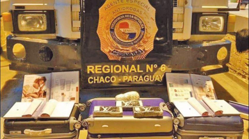 Interceptan camión boliviano con 34 kilos de cocaína en Paraguay