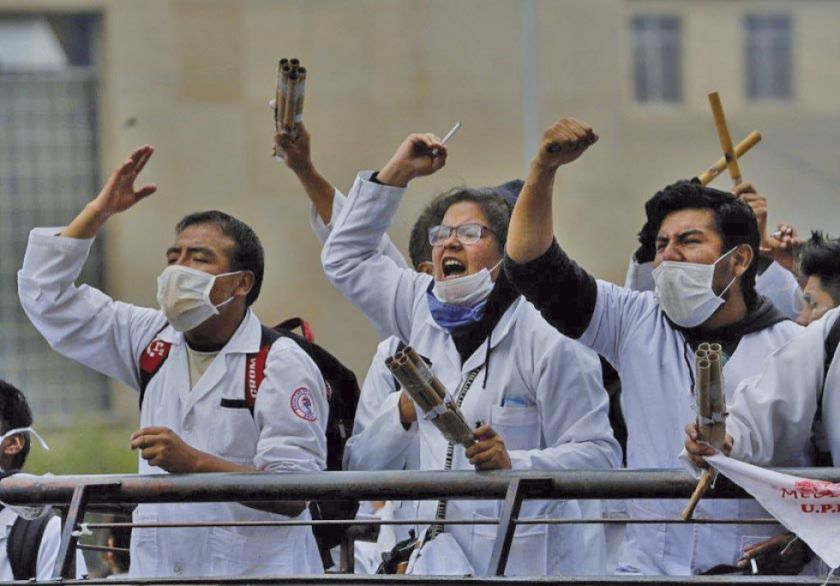 COB advierte con tomar acciones si médicos van al paro de 72 horas