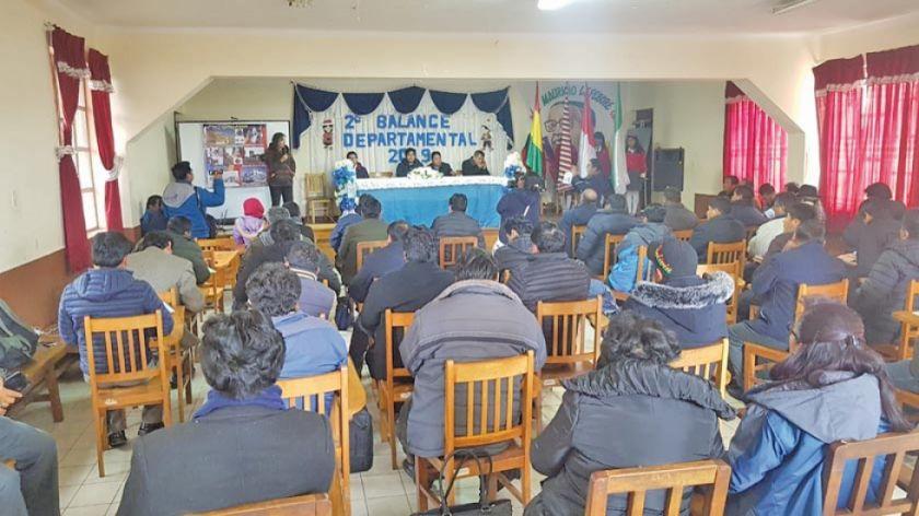 Culmina evaluación de directores distritales en Llallagua