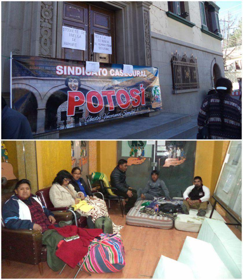 Administrativos de la CNS inician huelga de hambre