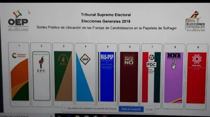 Así quedó la papeleta de sufragio para las elecciones generales del 20 de octubre