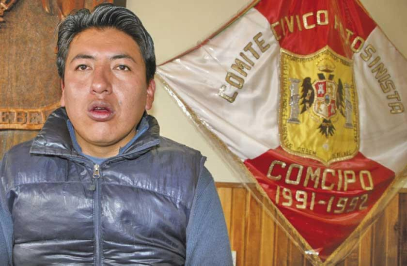 Audio filtrado vincula a líder cívico de Potosí con presunto apoyo a Mesa