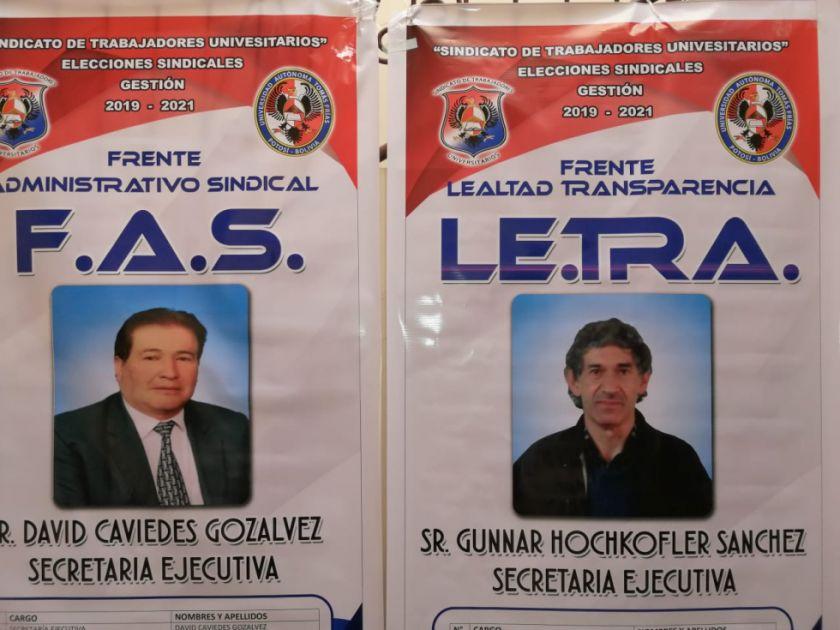 Los trabajadores administrativos de la UATF eligen directiva
