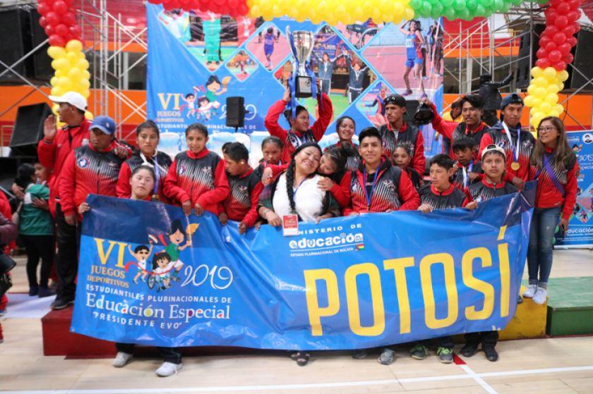 Potosí logra 35 medallas en los Juegos de Educación Especial