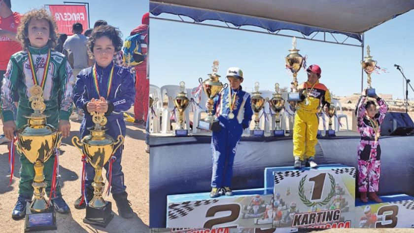 Potosinos suben al podio en karting