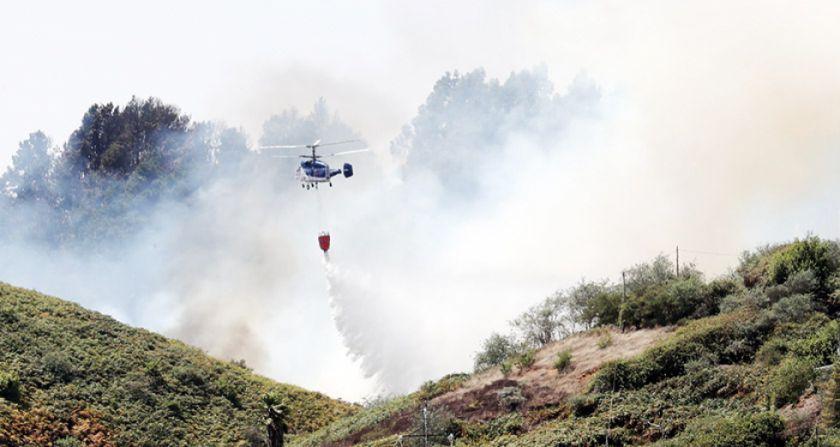 Incendio forestal de magnitud en España