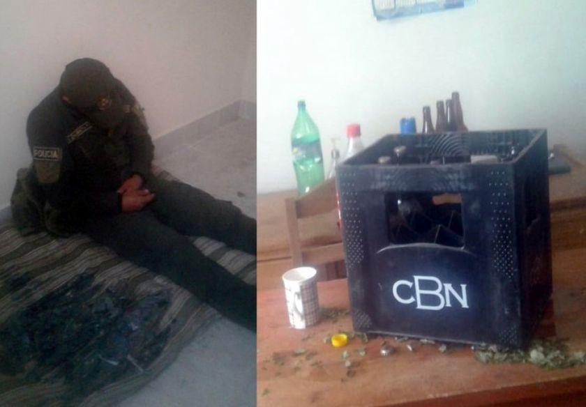 Detienen a dos policías consumiendo bebidas con dos mujeres en un módulo
