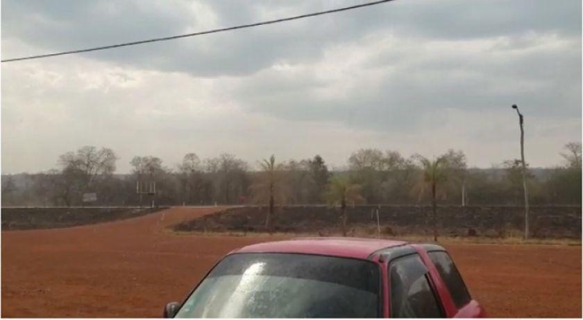 Cae llovizna por más de 15 minutos en Roboré