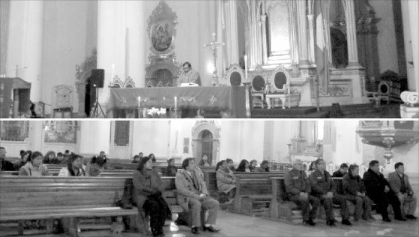 Se celebra misa en solidaridad  por la Chiquitanía