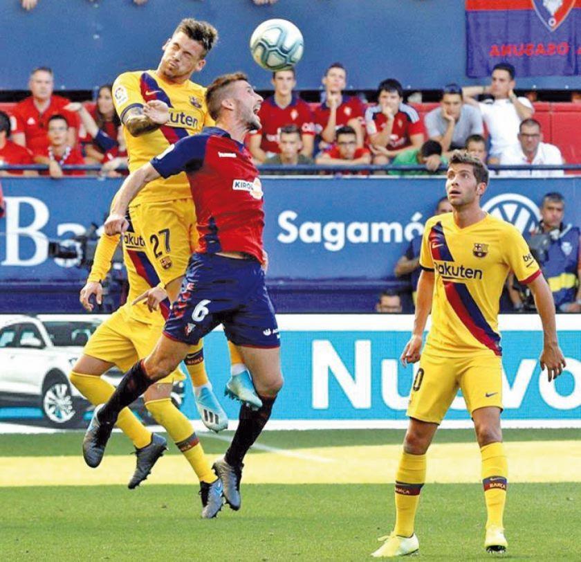 """El Barza empata con Osasuna en """"El Sadar"""""""
