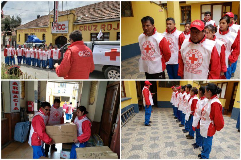Una brigada de la Cruz Roja parte para brindar asistencia en la Chiquitania