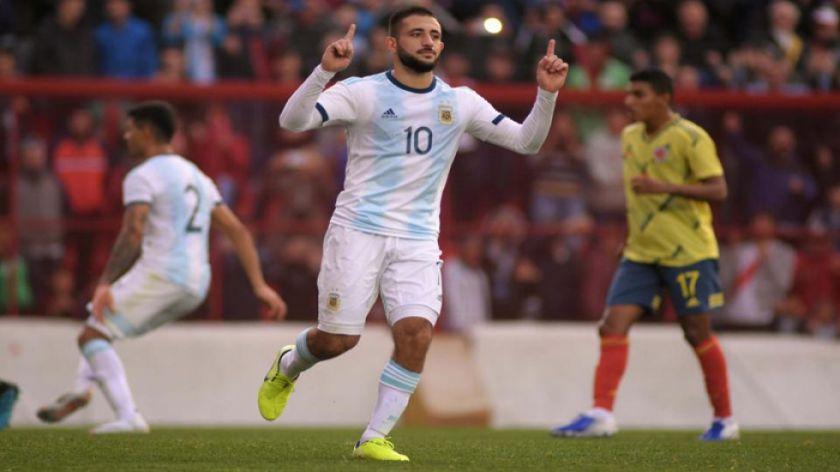 La selección argentina sub'23 gana a Colombia