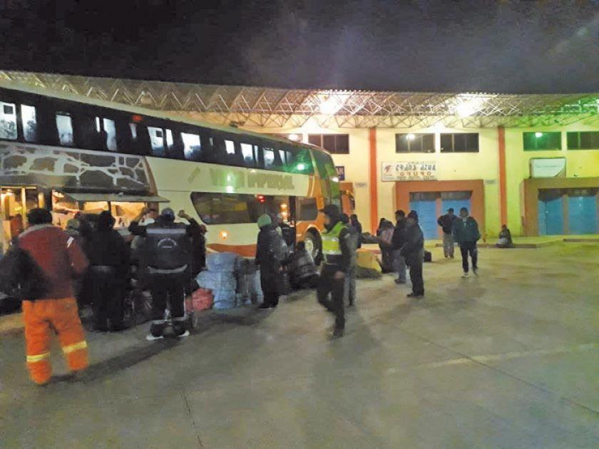 Continúa el control en la terminal de buses