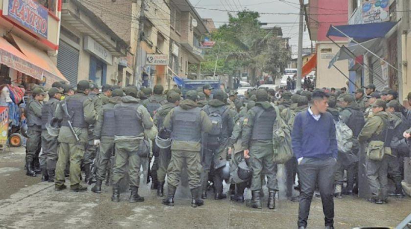 Despliegan a 100 policías en el municipio de Chulumani