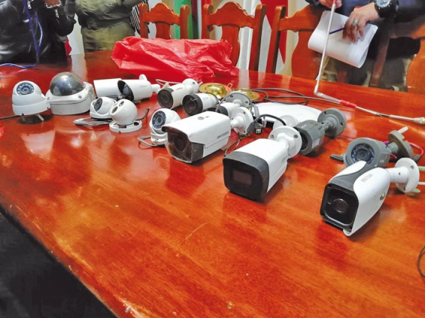 Aprehenden a un supuesto ladrón de quince cámaras