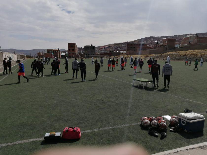 Nacional Potosí cerró prácticas rumbo al clásico de mañana