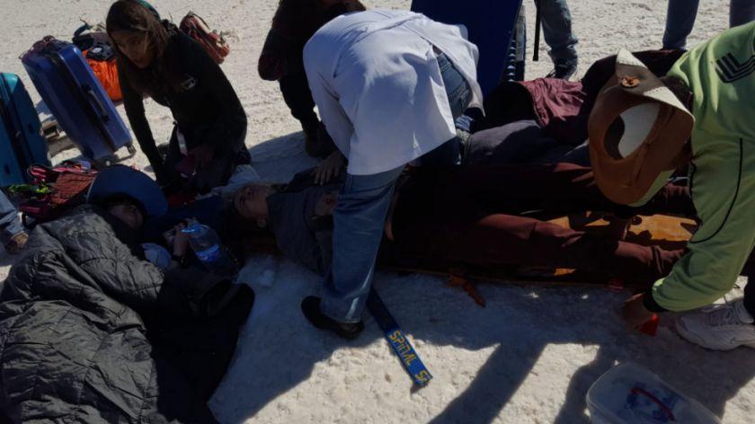 Accidente en el salar deja nueve heridos