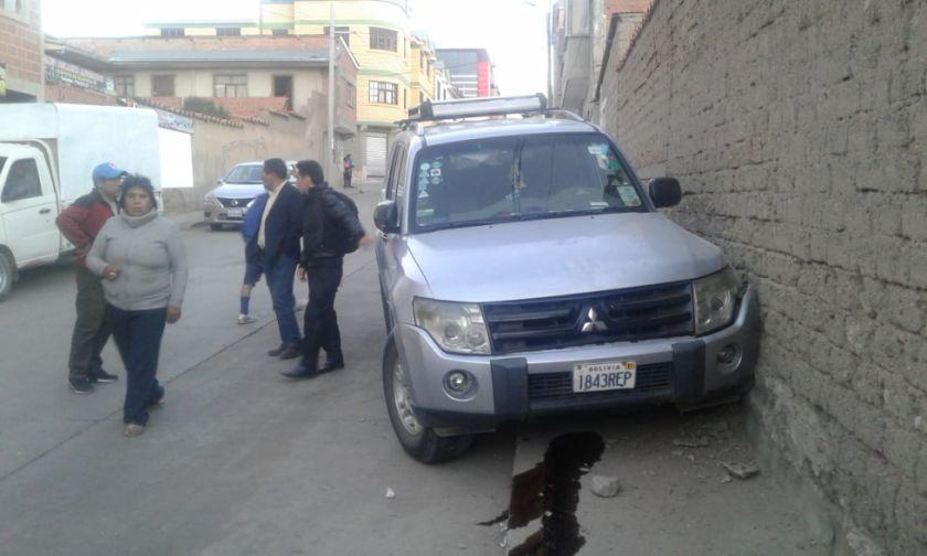 Vehículo del Concejo sufrió accidente sin consecuencias