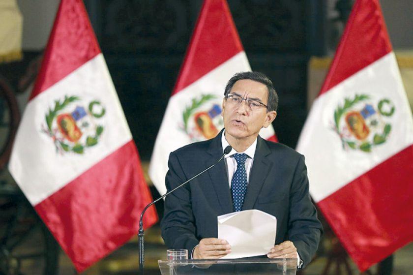 Perú: Martín Vizcarra disuelve el Congreso y llama a elecciones