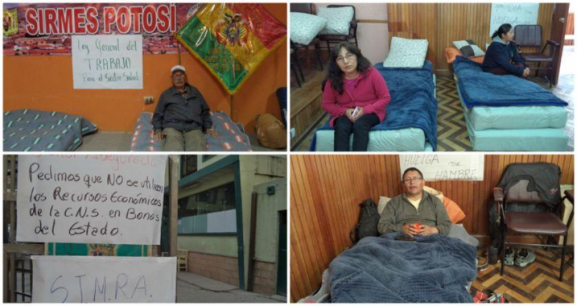 Sirmes instala piquete de huelga de hambre y pide atender demandas