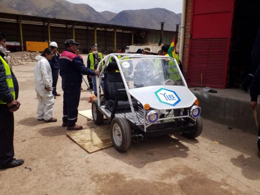 Visita a la planta de baterías de litio en La Palca.